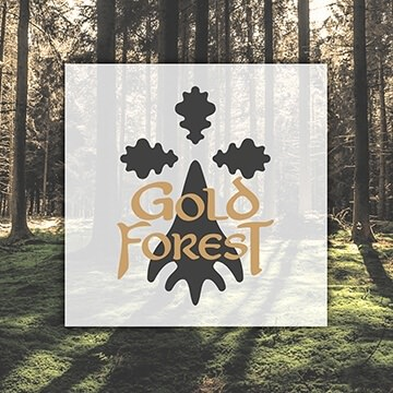Logo Design Grafik Gold Forest