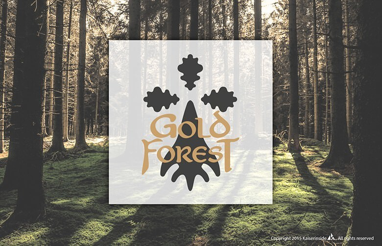 Logo Design Grafikdesign Gold Forest