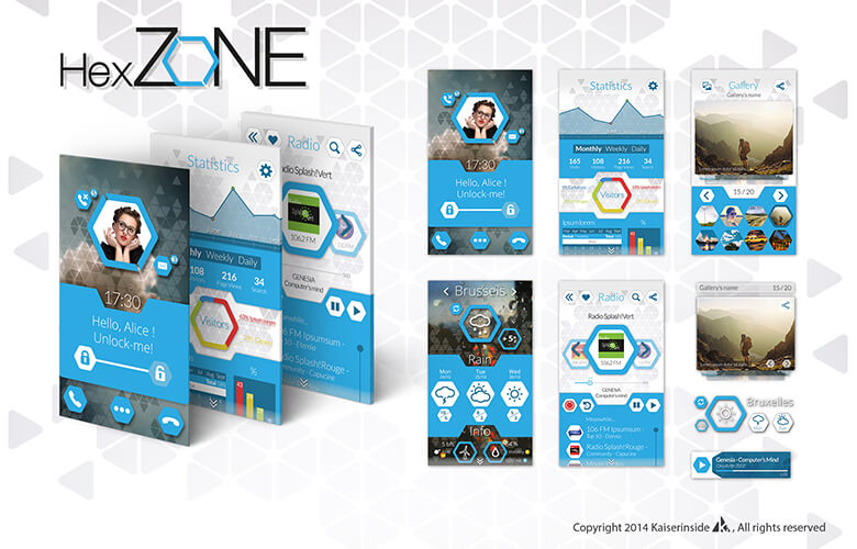 UI Design Grafikdesign Interfaces Hexzone