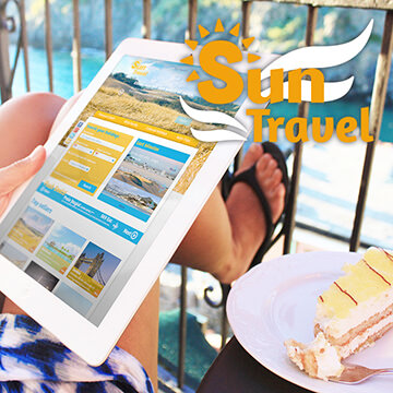 Webdesign Homepage Website Logo Design Sun Travel
